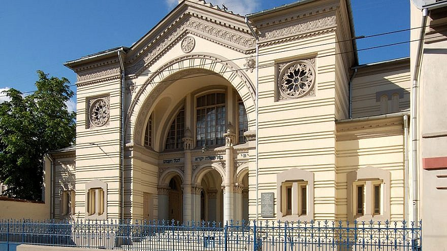 The Choral Synagogue in Vilnius, the only active one left in a city once home to more than 100 synagogues prior to the Holocaust. Credit: Wikimedia Commons.
