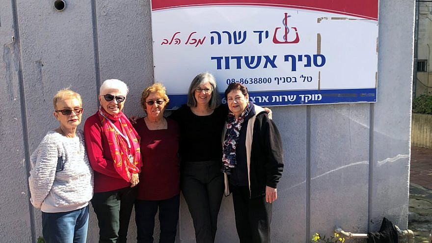 Volunteers at the new Yad Sarah site being built in Ashdod, Israel, August 2019. CreditL Courtesy.