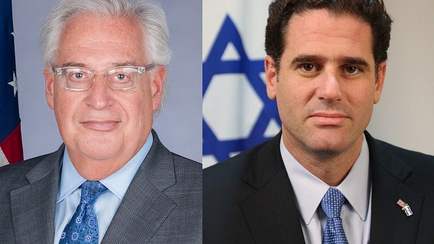 U.S. Ambassador to Israel David Friedman (left) and Israeli Ambassador to the United States Ron Dermer.