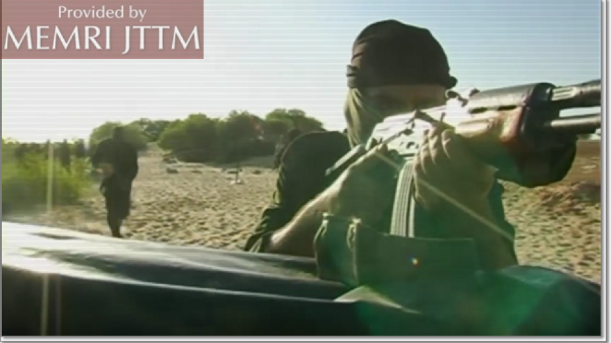 Screenshot showing footage from the Jaysh Al-Islam training camps. Credit: MEMRI.