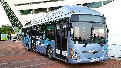 A Hyundai fuel-cell bus. Credit: Wikipedia Commons.