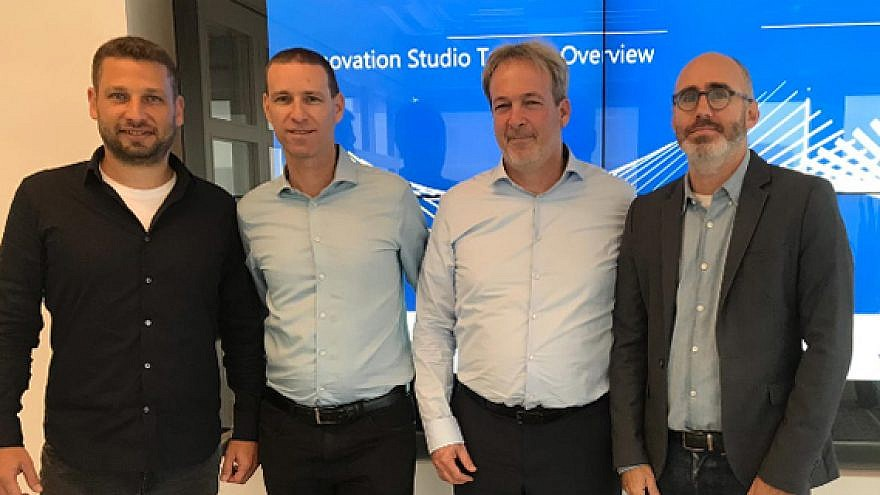 From left: Zooz VP product Nadav Naaman, Mesh CEO Oded Zehavi, ChargeAfter CEO Meidad Sharon and Visa Innovation manager in Tel Aviv Shahar Friedman. Credit: Visa.