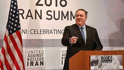 U.S. Secretary of State Mike Pompeo gives remarks at the annual United Against Nuclear Iran's Iran Summit in New York on Sept. 25, 2018. Credit: Flickr.