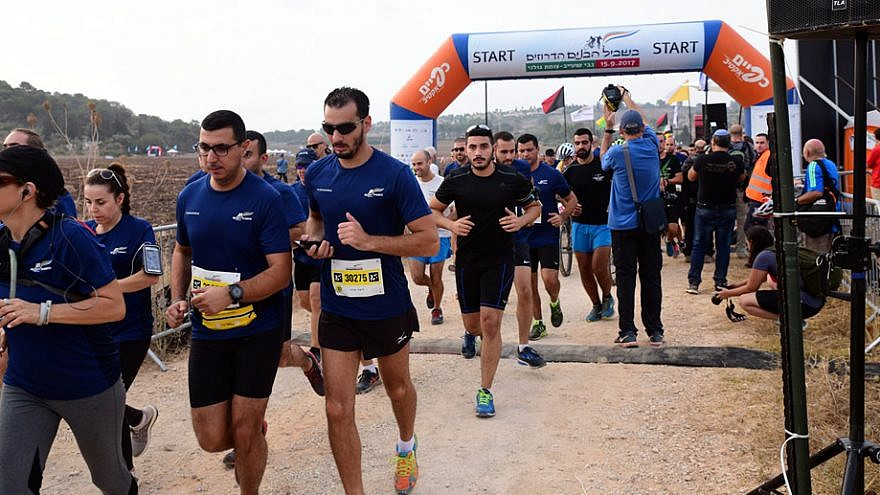 The annual walk, run, and bike ride to memorialize fallen Israeli Druze soldiers, 2017. Credit: FIDF.