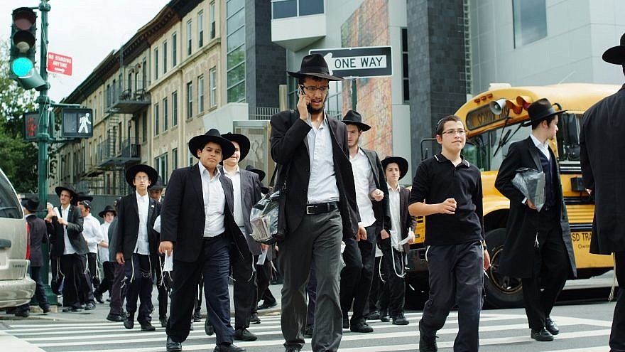 Chassidic Jews in Brooklyn, N.Y. Photo by Mendy Hechtman/Flash90.
