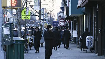 A street view of a mainly ultra-Orthodox area in Borough Park in Brooklyn, N.Y., on Jan. 1, 2014. Photo by Nati Shohat/Flash 90.