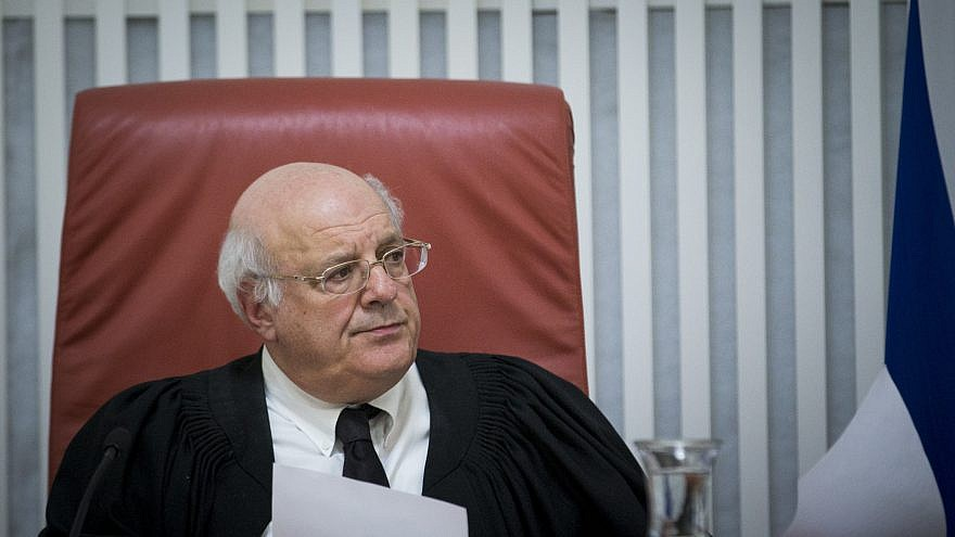 Supreme Court Justice Hanan Melcer in 2017. Photo by Yonatan Sindel/Flash90