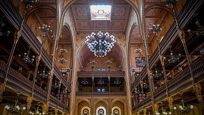 A view of the Dohány Street Synagogue, also known as the Great Synagogue, in Budapest, Hungary. It is the largest synagogue in Europe and the second-largest in the world. Photo by Yossi Zeliger/Flash90.