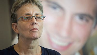 Leah Goldin, mother of late Israeli soldier Hadar Goldin, whose remains are being held by the Hamas terrorist organization in the Gaza Strip, attends a press conference on Aug. 5, 2018. Photo by Hadas Parush/Flash90.