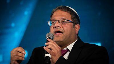 Itamar Ben-Gvir of Otzma Yehudit Party attends the Srugim conference in Jerusalem on Sept. 2, 2019. Photo by Yonatan Sindel/Flash90.