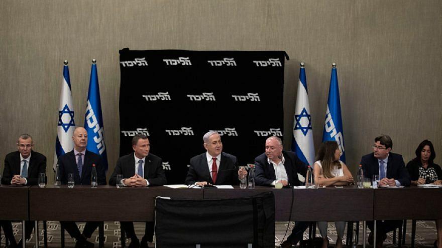 Israeli Prime Minister Benjamin Netanyahu speaks during a Likud Party faction meeting in Jerusalem, Sept. 18, 2019. Photo by Hadas Parush/Flash90.
