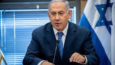 Israeli Prime Minister Benjamin Netanyahu leads a Likud Party meeting at the Knesset in Jerusalem on Sept. 23, 2019. Photo by Yonatan Sindel/Flash90.