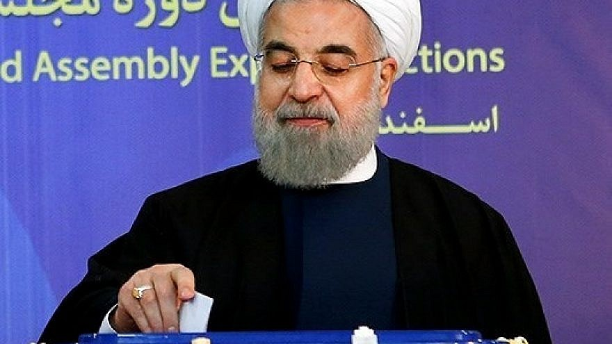 Iranian President Hassan Rouhani casting his vote in the 2016 elections. Credit: Wikimedia Commons.