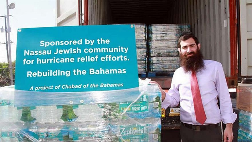 Rabbi Sholom Bluming is helping coordinate Jewish relief efforts and aid in the Bahamas, September 2019. Credit: Chabad.org/News.
