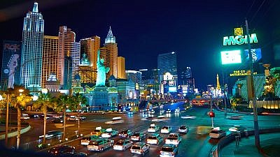 A view of the Las Vegas strip. Credit: Wikimedia Commons.