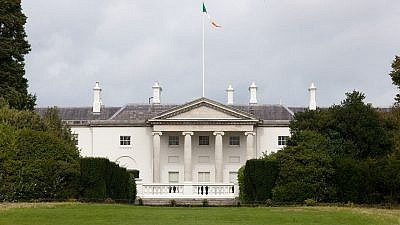 Áras an Uachtaráin, the official residence of the president of Ireland in the capital of Dublin, Aug. 28, 2010. Credit: William Murphy via Wikimedia Commons.