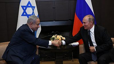Israeli Prime Minister Benjamin Netanyahu meets with Russian President Vladimir Putin in Sochi. Credit: Amos Ben-Gershom/GPO.