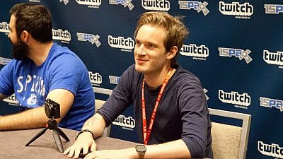 Swedish YouTube sensation PewDiePie, whose real name is  Felix Kjellberg. Credit: Wikimedia Commons.