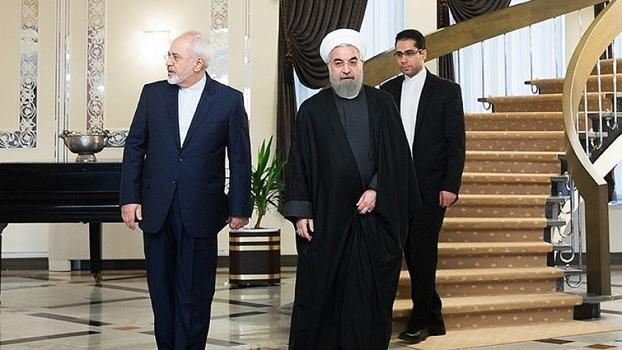 Iranian President Hassan Rouhani (right) and Foreign Minister Mohammad Javad Zarif. Credit: Wikimedia Commons.