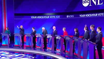 ABC News Democratic debate on Sept. 12, 2019. Source: Screenshot.