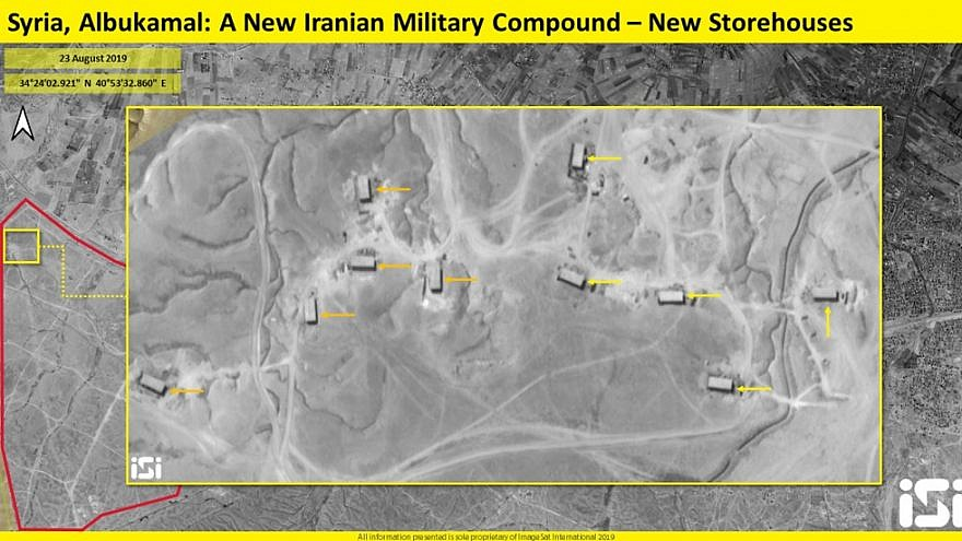 This satellite image purportedly shows several newly constructed storehouses