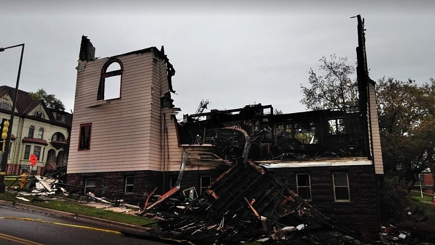 The remains of the Adas Israel Congregation in  Duluth, Minn. Source: Screenshot.