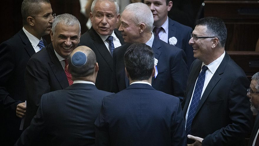 Likud members and others at the plenum hall of Israeli parliament on the opening of the 22nd Knesset in Jerusalem, on Oct. 3, 2019. Photo by Hadas Parush/Flash90.