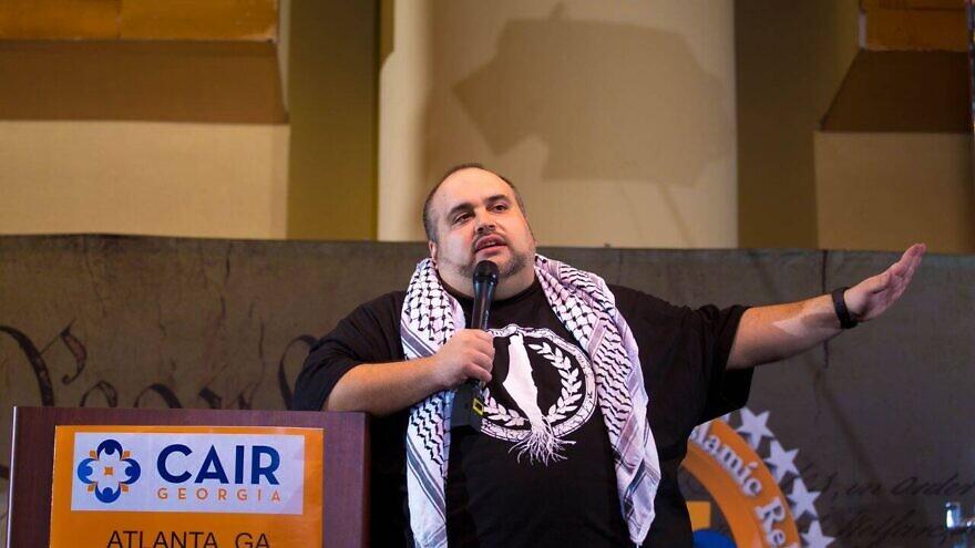 Pro-Palestinian activist Said Durrah speaks at a CAIR Georgia event on Feb. 24, 2018. Source: Facebook.