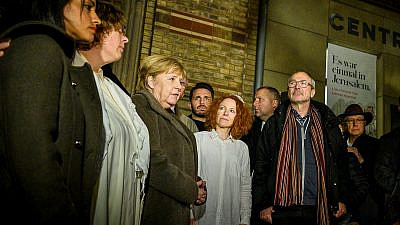 German Chancellor Angela Merkel joins others in solidarity with the Jewish community after a gunman attempts to enter a synagogue filled with worshippers in Halle, Germany, on Yom Kippur, Otc. 9, 2019.  Source: Facebook.