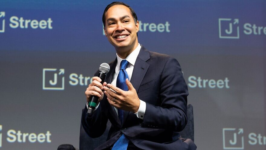 Former U.S. Housing and Urban Development Secretary Julian Castro, a 2020 Democratic presidential candidate, at the annual J Street Conference in Washington D.C., on Oct. 28, 2019. Credit: Michael Brochstein/Split Stone Media.