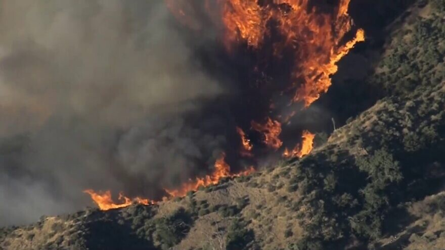 Fires in Northern and Southern California continue to be fueled by dry conditions and strong winds almost a week after they began, Oct. 30, 2019. Source: YouTube.