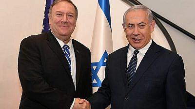 U.S. Secretary of State Mike Pompeo meets with Israeli Prime Minister Benjamin Netanyahu in Jerusalem on Oct. 18, 2019. Credit: David Azagury/US Embassy Jerusalem.
