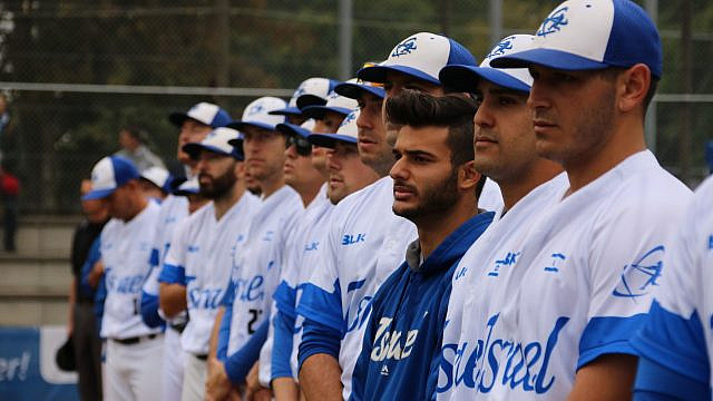 Team Israel baseball, headed to the Tokyo Summer Olympics, to take place from July 23 to Aug. 8. Photo by Margo Sugarman.