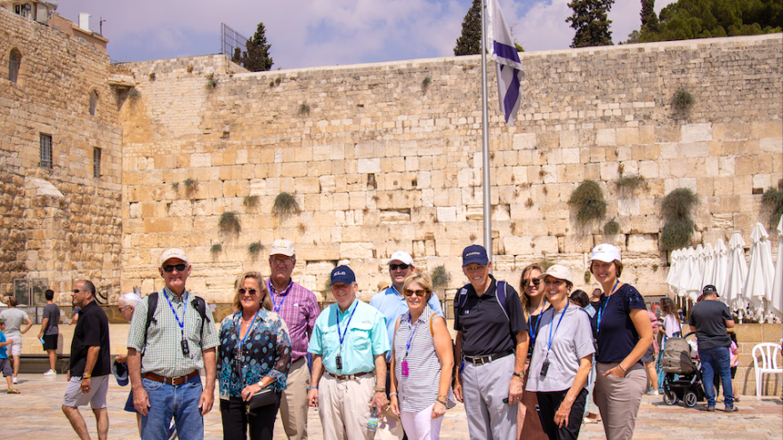 A U.S. congressional at the Western Wall in August 2019. Credit: Yoel Davis.