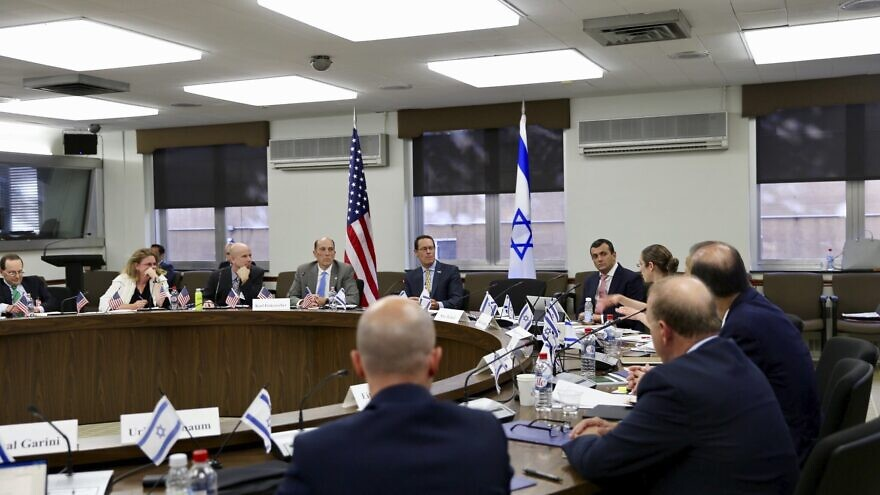 More than 80 U.S. and Israeli officials gathered at the U.S. Department of State to participate in the 34th meeting of the U.S.–Israel Joint Economic Development Group (JEDG), the annual economic policy dialogue between the two nations first held in 1985, Oct. 23, 2019. Credit: U.S. Treasury/Twitter.