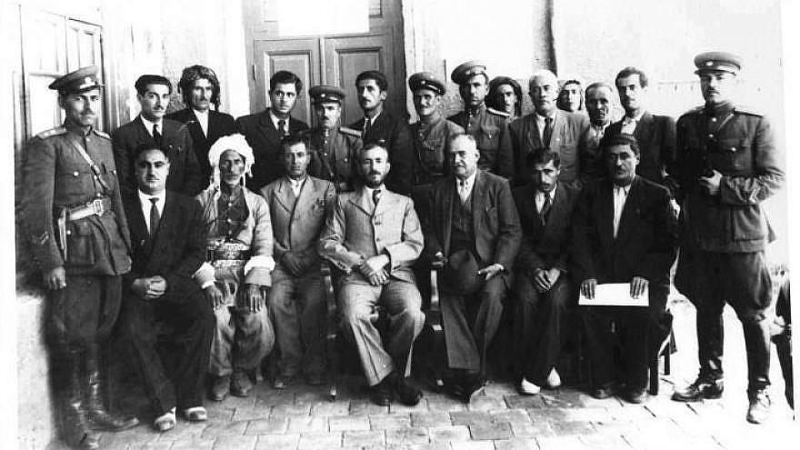 Kurdish Mahabad Republic leader Qazi Muhammad (middle), between 1946 and 1947. Credit: Wikimedia Commons.