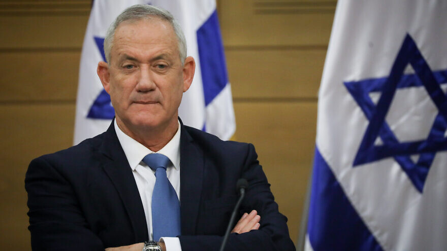 Blue and White Party head Benny Gantz attends a faction meeting at the Knesset in Jerusalem, on Oct. 28, 2019. Photo by Hadas Parush/Flash90.