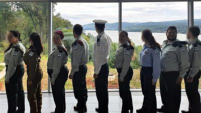 "Eight officers from the Israel Defense Forces traveled to the United States to meet with Birthright Israel North American delegates as part of a program called Mifgash (""meeting"" in Hebrew). Here, they visited the United States Military Academy at West Point in New York, September 2019. Credit: IDF Spox."