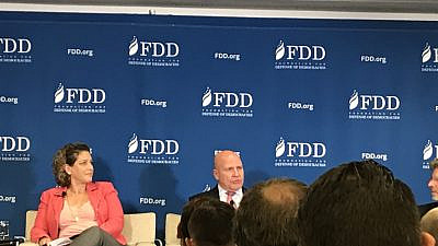 Former U.S. National Security Advisor Gen. H.R. McMaster speaks as part of a panel at the Foundation for Defense of Democracies in Washington, D.C., on Oct. 10, 2019. Credit: Jackson Richman/JNS.