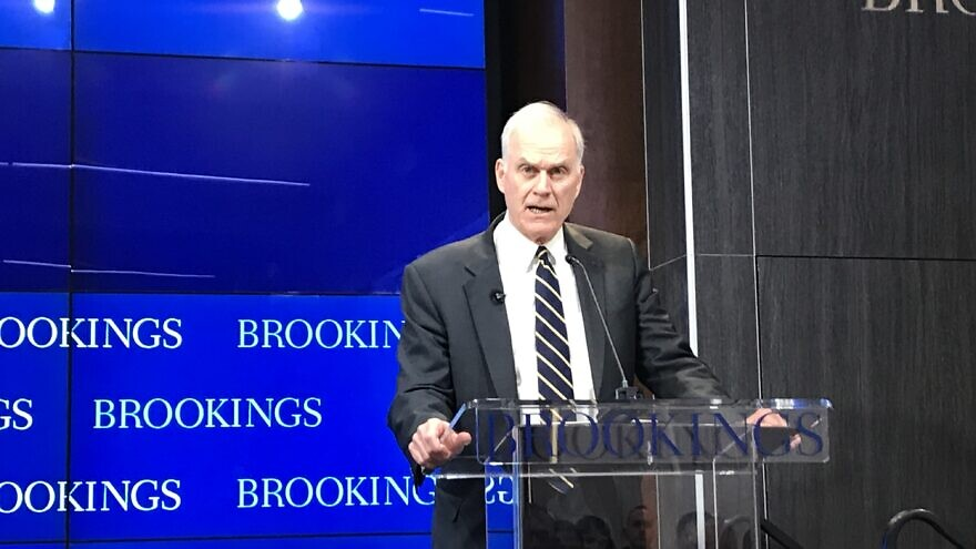 U.S. Navy Secretary Richard V. Spencer addresses the Brookings Institution in Washington, D.C., on Oct. 23, 2019. Credit: Jackson Richman/JNS.