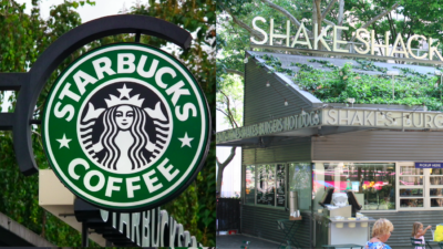 Starbucks and Shake Shack may be coming to Israel. Source: Screenshots via Wikimedia Commons.