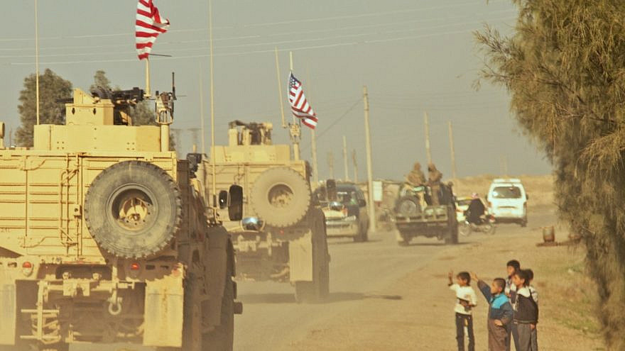 A convoy of U.S. soldiers in Syria in December 2018. Credit: Wikimedia Commons.
