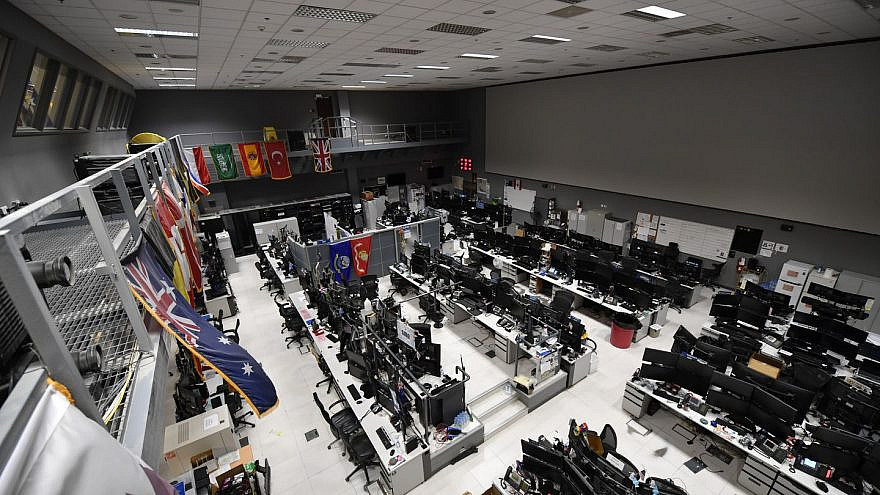 The Combined Air and Space Operations Center at al-Udeid Air Base in Qatar. Credit: Senior Airman Sean Campbell/ U.S. Air Force.