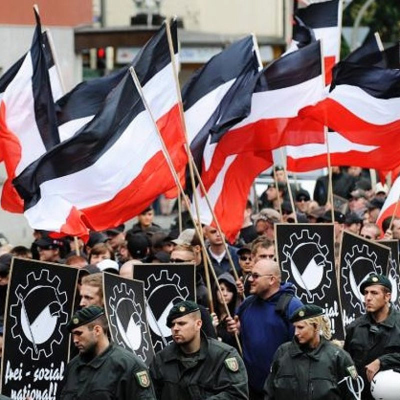 Neo-Nazi demonstration in Germany in 2008.  Source: Screenshot.
