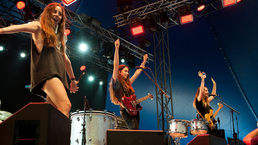 The American Jewish pop band Haim performing in 2013. Credit: Wikimedia Commons.