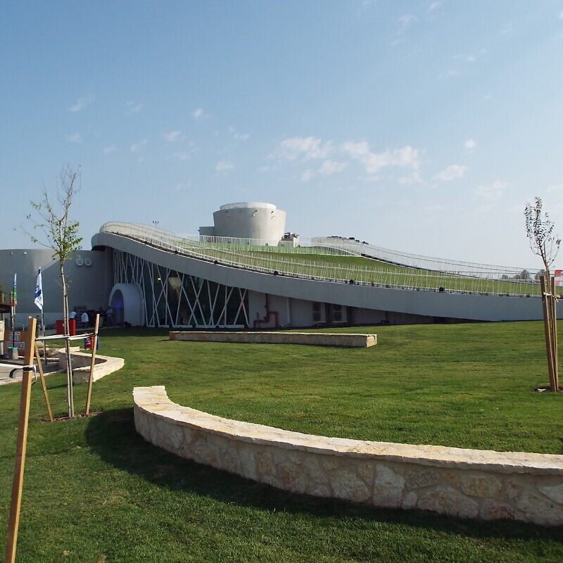 A view of the new Stephen J. Harper KKL-JNF Hula Valley Visitor and Education Center at the Agamon Hula Park in Israel. Photo by Judy Lash Balint.