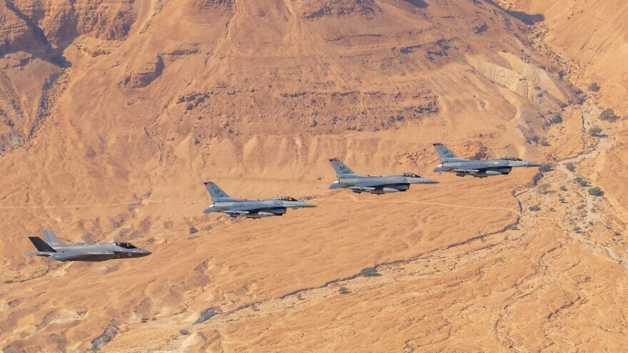 The Israel Air Force and jets from the United States, Germany, Italy and Greece take part in the international Blue Flag drill held from Nov. 3 to Nov. 14, 2019, at Uvda Air Force Base, north of Eilat. Credit: IDF Spokesperson's Unit.