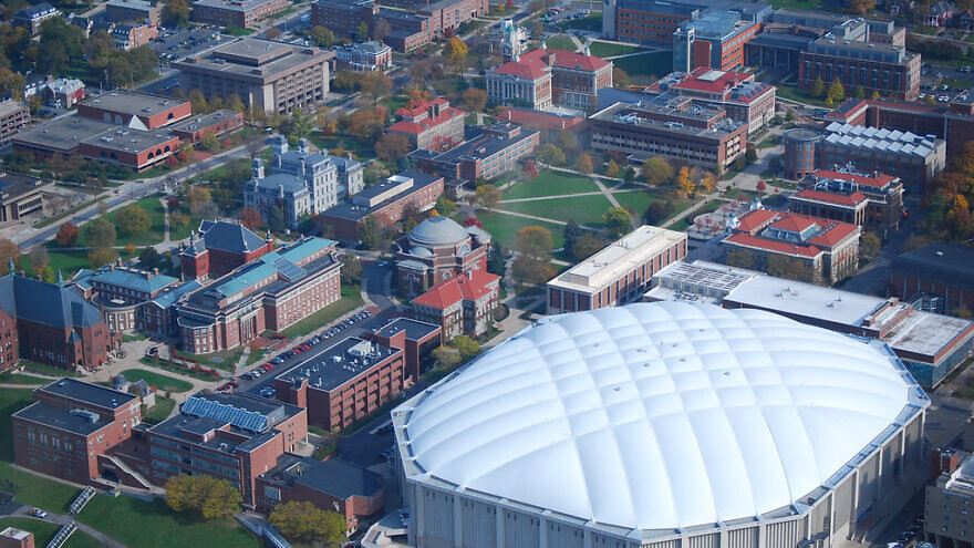 Aerial view of Syracuse University. Credit: Flickr.
