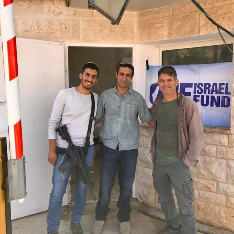 Marc Provisor, right, current director of security projects for the One Israel Fund organization. Source: Facebook.