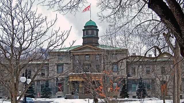 McGill University arts building. Credit: Wikimedia Commons.